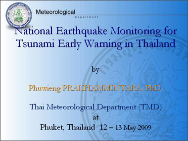 Meteorological Department National Earthquake Monitoring for